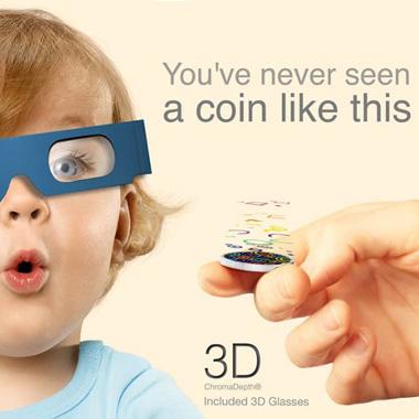 3D монета на выставке монет COINS-2016!